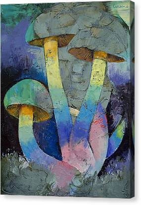 Magic Mushrooms Canvas Print by Michael Creese