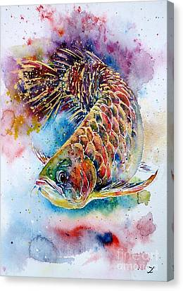 Magic Of Arowana Canvas Print by Zaira Dzhaubaeva