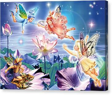 Magic Water Lily Canvas Print by Zorina Baldescu
