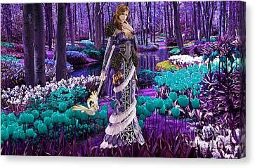 Magical Flower Garden Canvas Print by Marvin Blaine