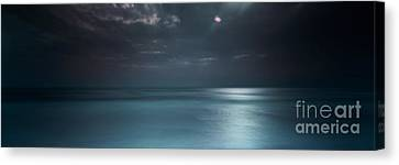 Magical Night On The Beach Canvas Print by Marco Crupi