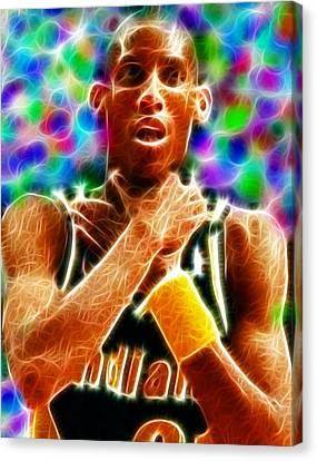 Magical Reggie Miller Choke Canvas Print by Paul Van Scott