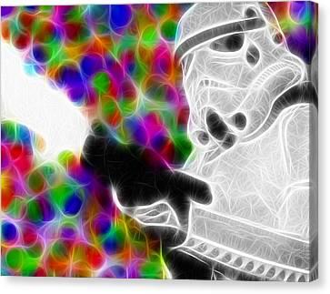 Magical Storm Trooper Canvas Print by Paul Van Scott