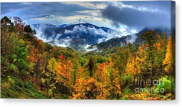 Magnificent Autumn - A Panorama II Canvas Print by Dan Carmichael