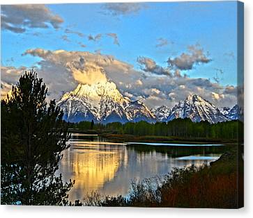 Magnificent Mountain Canvas Print by Dan Sproul