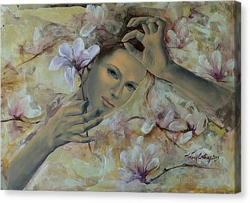 Magnolias Canvas Print by Dorina  Costras