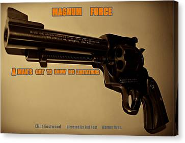 Magnum Force Custom Canvas Print by Movie Poster Prints