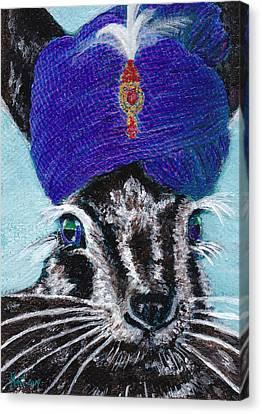 Mahatma Hare - The Spiritual Rabbit Canvas Print by Michele Avanti