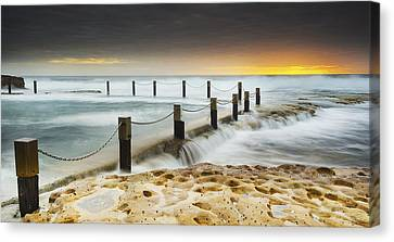 Mahon Pool Australia Canvas Print by Mike Banks
