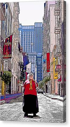 Maiden Lane Diva Canvas Print by Michael Fahey