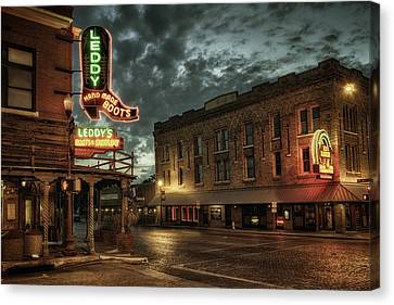 Main And Exchange Canvas Print by Joan Carroll