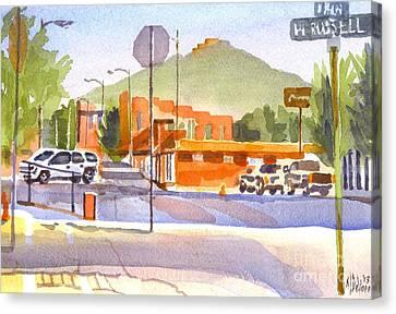 Main Street In Morning Shadows Canvas Print by Kip DeVore