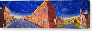 Main Street Panoramic Canvas Print by Scott Kirby