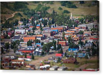 Main Street Silverton Colorado Canvas Print by Darren  White