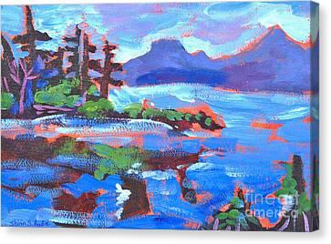 Maine In Blue Canvas Print by Shirin Shahram Badie