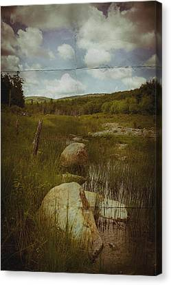 Maine Landscape Acadia National Park Clouds Canvas Print by Andy Gimino