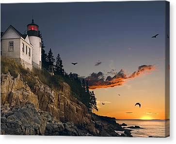 Maine Lighthouse Canvas Print by Daniel Hagerman
