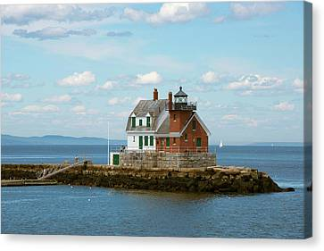 Maine, Rockland, Penobscot Bay Canvas Print by Cindy Miller Hopkins
