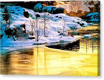 Maine Winter Along The Androscoggin River Canvas Print by Bob Orsillo