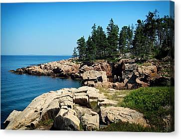 Maine's Rocky Coastline Canvas Print by Mountain Dreams