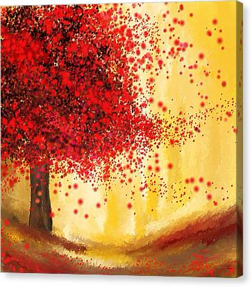 Majestic Autumn - Impressionist Painting Canvas Print by Lourry Legarde