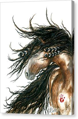 Majestic Pinto Horse 80 Canvas Print by AmyLyn Bihrle