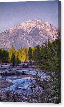 Majestic Mountain Morning Canvas Print by Omaste Witkowski
