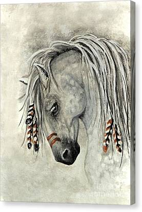 Majestic Mustang 30 Canvas Print by AmyLyn Bihrle