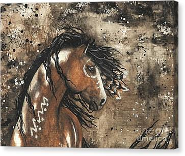 Majestic Mustang Series 61 Canvas Print by AmyLyn Bihrle