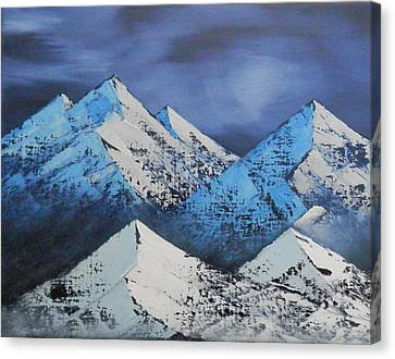 Majestic Rockies Canvas Print by Jared Swanson