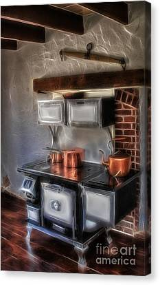Majestic Stove Canvas Print by Susan Candelario