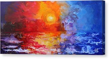 Majestic Sunset Canvas Print by Julia Apostolova