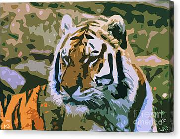 Majestic Tiger Canvas Print by Mark Brady