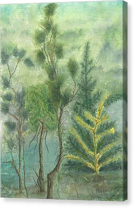 Majestic Trees Canvas Print by Jeanne Hyland-Curtin