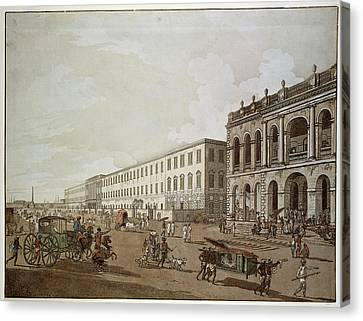 Major Buildings Of Colonial Calcutta Canvas Print by British Library