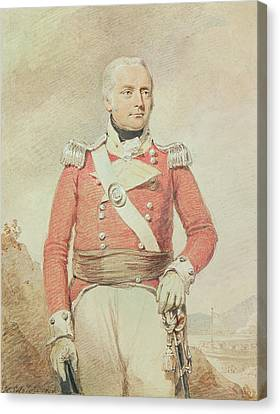 Major General Patrick Mckenzie, 1808 Canvas Print by Henry Edridge