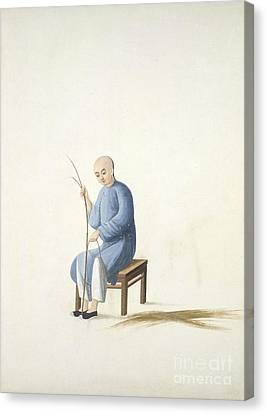 Making Bamboo Mats, 19th-century China Canvas Print by British Library