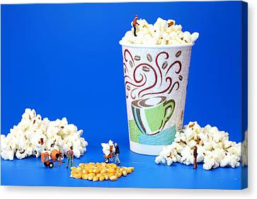 Making Popcorn Canvas Print by Paul Ge