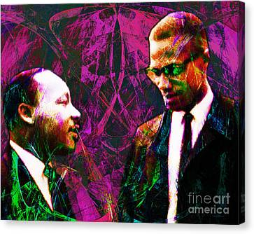 Malcolm And The King 20140205m68 Canvas Print by Wingsdomain Art and Photography