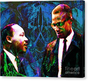 Malcolm And The King 20140205p180 Canvas Print by Wingsdomain Art and Photography
