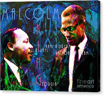 Malcolm And The King 20140205p180 With Text Canvas Print by Wingsdomain Art and Photography