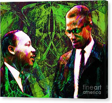 Malcolm And The King 20140205p68 Canvas Print by Wingsdomain Art and Photography