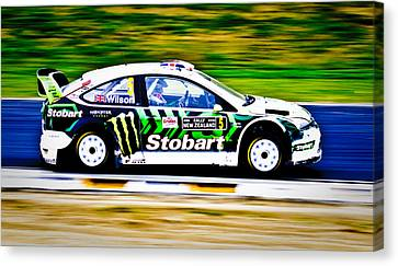 Malcolm Wilson Ford Focus Canvas Print by motography aka Phil Clark