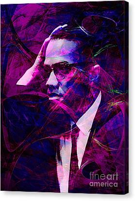 Malcolm X 20140105m88 Canvas Print by Wingsdomain Art and Photography