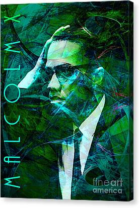 Malcolm X 20140105p138 With Text Canvas Print by Wingsdomain Art and Photography