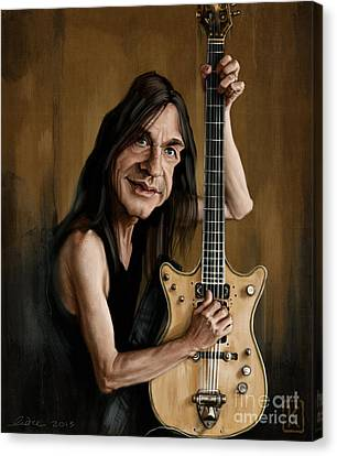 Malcolm Young Canvas Print by Andre Koekemoer