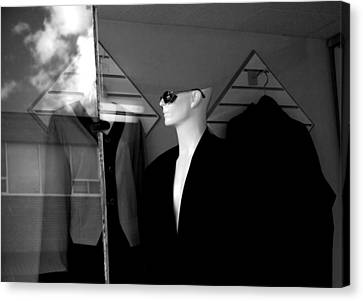 Male Mannequin With Sunglasses Canvas Print by Randall Nyhof