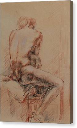 Male Nude 1 Canvas Print by Becky Kim