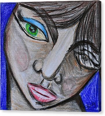 Malevolence Canvas Print by Donna Blackhall