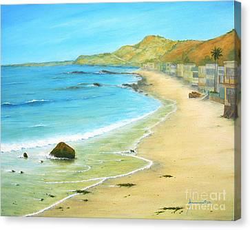 Malibu Road Canvas Print by Jerome Stumphauzer